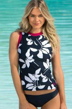 7d54bee102 Floral Tankini, Tankini Top, Bikini Tops, Best Swimsuits, Cute Bathing  Suits,