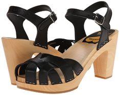 Swedish Hasbeens Women's Pearl Sky High Open Toe Sandals: Amazon.co.uk: Shoes & Bags