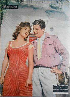 Gina Lollobrigida and Marcello Mastroianni