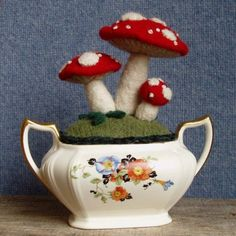 Sugar Bowl Mushroom Garden by WanderingLydia on Etsy, $45.00
