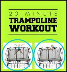 A 20-minute trampoline workout that's a super fun way to tighten, tone, and build your core strength this summer! | Fit Bottomed Girls