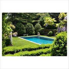 GAP Interiors - Country garden with swimming pool - Picture library specialising in Interiors, Lifestyle & Homes
