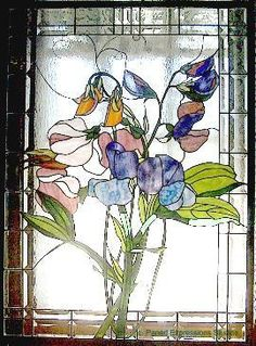Sweet pea stained glass.