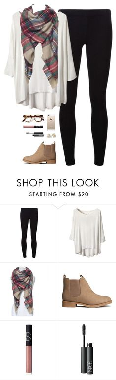 """still stuck insideee"" by classically-preppy ❤️ liked on Polyvore featuring James Perse, H&M, NARS Cosmetics and Kate Spade"
