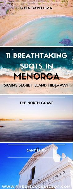 Menorca is Spain's secret beach hideaway. Read our travel guide to things to do in Menorca, complete with the best food, hotels, beaches and culture for your vacation. Ciutadella I Mahon I Binibeca I Summer I Holiday #travel #beaches