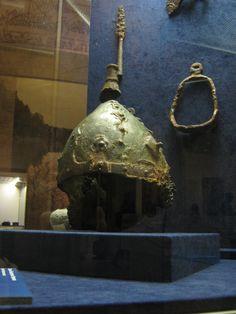 Norse Viking Helmet from Chernaya Mogila (Black Grave) burial mound (Chernigov, Ukraine).