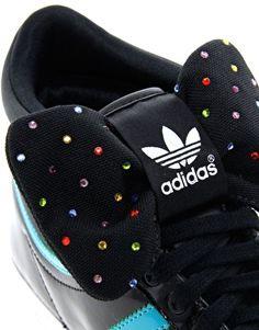 Aumentar Zapatillas de deporte hi-top negras con lazo Top Ten Sleek de Adidas