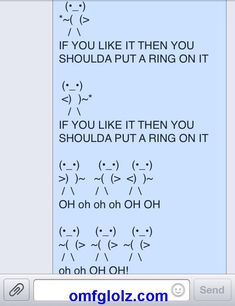 Funniest Text Message EVER! Beyonce - All The Single Ladies LOL