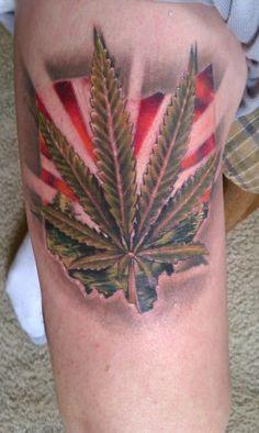marijuana tattoo weed tattoo leaf tattoos 3d tattoos tattoo ink tatoo ...
