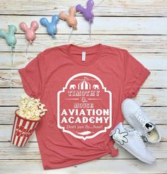 Aviation Academy T Shirt This t-shirt is Made To Order, one by one printed so we can control the quality. Disneyland Shirts, Disney World Shirts, Disney Tees, Disney Outfits, Disney Clothes, Disney Fashion, Thing 1, Personalized T Shirts, Family Shirts