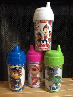 Paw patrol SpillProof Personalized Sippy by CreativeLaminations, $10.99