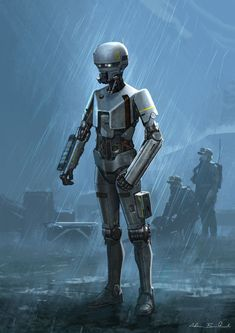 Adam Brockbank, concept and storyboard artist presents a selection of 20 Awesome Concept Art he's made for Rogue One, a Star Wars Story. Star Wars Characters Pictures, Sci Fi Characters, Drones, Star Wars Battle Droids, Science Fiction, Edge Of The Empire, Star Wars Concept Art, Star Wars Rpg, Cyborgs