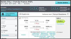 AIR FRANCE FLUG VON NACH FORT DE FRANCE IM NOVEMBER 2015 FÜR 545 EURO