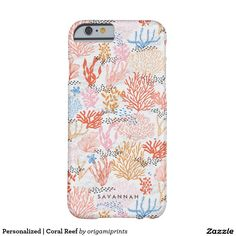 Personalised   Coral Reef Barely There iPhone 6 Case