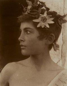 Sicilian Youth with Wreath of Roses, c.1900 by Wilhelm Von Gloeden