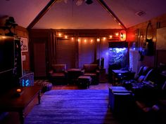 Male Living Space - Midnight (TX ranch) – incredible man cave , decor for men , cave art , home , room Teen Bedroom Designs, Room Design Bedroom, Room Ideas Bedroom, Home Room Design, Home Bedroom, Bedrooms, Ranch, Emo Room, Galaxy Room