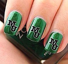 marshall university mascot nails
