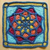 Sun Catcher Afghan Square pattern by Julie Yeager. This looks good in 1 color or many. Pattern free until 31 Dec 2015. [10ply yarn, 5.5mm hook]
