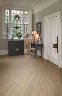 Quayside Oak Camaro luxury vinyl tile flooring featured in hallway