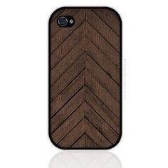 Chevron wood case available at @Gail Mounier Cicada
