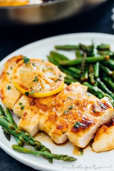 This honey butter lemon chicken with asparagus has some of the freshest ingredients to make a flavorful weeknight dish! This recipe is quick and easy and uses one-skillet! Less mess and easy clean-up!
