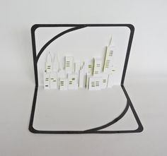 NEW YORK SKYLINE Pop Up 3d Card Home Decoration by BoldFolds