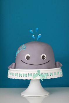 Feines Handwerk Walbaby Torte zur Geburt Torte, Babyshower, Wal Torte, babyboy,