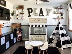 21 Best Playroom Design Ideas Inspiration for Kids Playroom ideas-- to stimulate imagination and imagination in your kid. Open up your playroom. Create a blackb