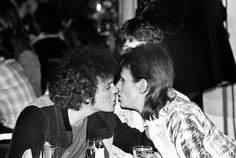 vintage everyday: Lou Reed, Mick Jagger and David Bowie hanging out together at Café Royale, 1973