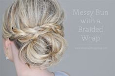 small things blog | The Small Things Blog: Messy Bun with a Braided Wrap by Anna Malmane