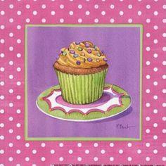 láminas découpage cupcakes y tortas
