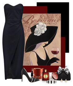 """Dine with wine"" by whiteflower7 ❤ liked on Polyvore featuring Iris & Ink, Miss KG, Alexis Bittar, Yves Saint Laurent, GX and Liz Claiborne"