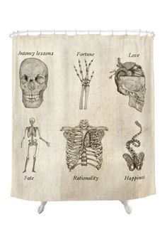 Meta-Anatomy Shower Curtain