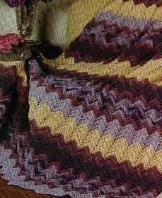 Free Crochet Blue Rose Ripple Afghan pattern
