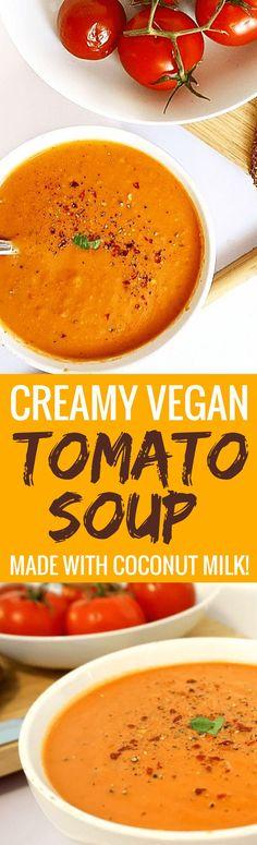 Easy Vegan One Pot Tomato Basil Soup - Vegan, Gluten Free & Dairy Free