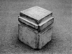 Bruce Nauman A cast of the space under my chair 1965-68