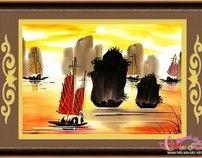 Tranh theu chu thap Vịnh Hạ Long by TranhTheu ChuThap, via Behance