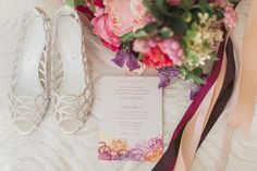 This is one of our favorite color palettes! Pink, yellow purple orange. A little something of everything = absolutely stunning. Gorgeous fall wedding