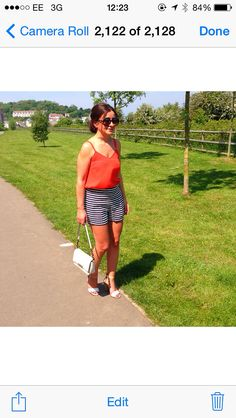J.Crew striped shorts... Buy the look over at missionstyleuk.blogspot.com