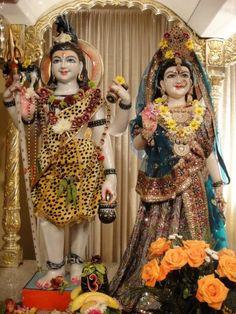 Shiva-Parvati.  Shri Lakshmi Narayan Mandir. Orlando, Florida