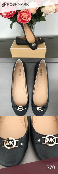 🌷Michael Kors Hampton Ballet Flat🌷 Black leather ballet flats. Brand new, comes with box, never worn. Michael Kors Shoes Flats & Loafers