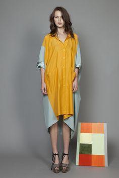 #MissCrabb now avail online (River Niger Shirt Dress Mustard/Sage)