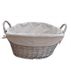 Antique Wash Wicker Laundry Basket | Washing Basket