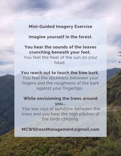 Do you ever feel like you need a break from the hustle and bustle? Try this mini-guided imagery exercise and take a moment to relax. Ahhhhh...  #relaxation #relaxationtechniques #relaxationtips #stressrelief #stressremedies #stressrelieftips #beforebedroutine #sleeptips #needsleep #sleepdeprivation #sleepremedies #anxietyrelief #anxietyremedies