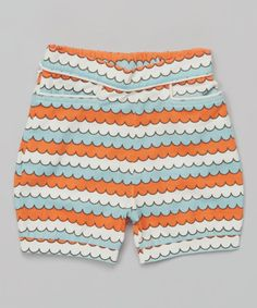 Wave Piped Organic Bubble Shorts - Infant, Toddler & Girls #zulily #zulilyfinds