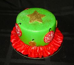 christmas tree cake   http://www.facebook.com/I.Love.Cuteology.Cakes