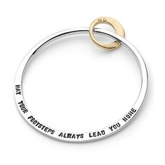 I think this is beautiful....Silver and Gold friendship bangle (stamped)