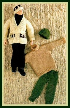 PDF Knitting Pattern for Action Man Ken Etc Casual Clothes inc. a Starksky…