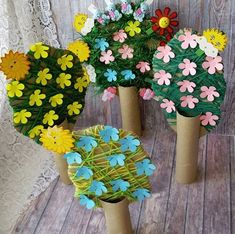 kids crafts summertime Crafts and games for children, Spring Crafts For Kids, Diy For Kids, Toilet Paper Roll Crafts, Paper Crafts, Box Creative, Easy Crafts, Diy And Crafts, Toddler Crafts, Children Crafts