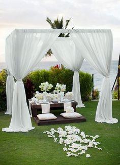 Toller Hochzeit Bogen mit Allee von Blätterchen